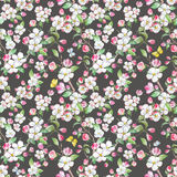 Watercolor spring floral pattern Stock Photography