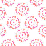 Watercolor spring floral pattern. On white background Royalty Free Stock Photos