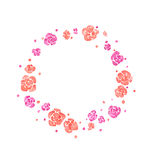 Watercolor spring floral wreath. On white background Royalty Free Stock Photos