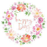 Watercolor spring flowers. vector illustration