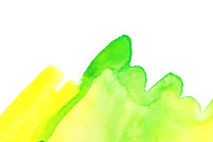 Watercolor spring green grass Stock Photography