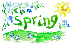 Watercolor spring Royalty Free Stock Images