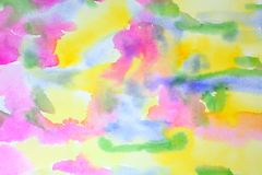 Watercolor Springtime Abstract. A combo of springtime colors in an abstract watercolor painting Royalty Free Stock Image