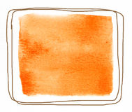 Watercolor square Royalty Free Stock Images