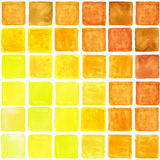 Watercolor square abstract seamless pattern. Brown,Yellow. Watercolor geometric abstract  seamless pattern background .Colorful modern texture.Triangle,rhombus Stock Photos