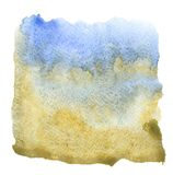 Watercolor square  background Royalty Free Stock Photography
