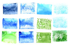 Watercolor square colorful backgrounds Stock Image
