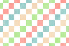 Watercolor square pattern. Royalty Free Stock Photos