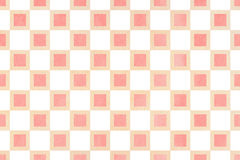 Watercolor square pattern. Stock Photo