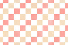 Watercolor square pattern. Stock Photos