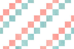 Watercolor square pattern. Stock Images