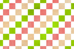 Watercolor square pattern. Stock Photo