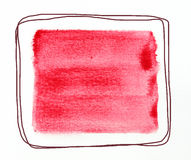 Watercolor square Royalty Free Stock Photo