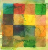 Watercolor squares abstract background Royalty Free Stock Image