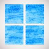 Watercolor squares Royalty Free Stock Photos