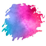 Watercolor stain with aquarelle paint blotch Royalty Free Stock Photography