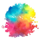Watercolor_stain_with_aquarelle_paint_blotch Stock Photos
