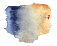 Watercolor stain painted by hand. The colors are black-blue and stock illustration