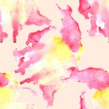 Watercolor stain seamless pattern. Hand painted Watercolor texture royalty free illustration