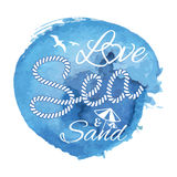 Watercolor stain with typography Stock Photography