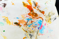 Watercolor stained cloth Royalty Free Stock Photos