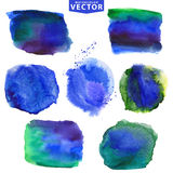 Watercolor stains.Cool,blue Royalty Free Stock Images