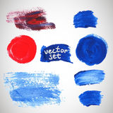 Watercolor stains, elements for your design Royalty Free Stock Photo