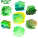 Watercolor stains.Green Royalty Free Stock Photography