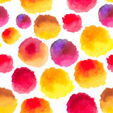 Watercolor stains pattern with gradients dots Royalty Free Stock Photography
