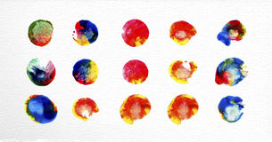 Watercolor stains set illustration Stock Images