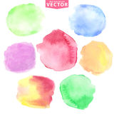 Watercolor stains.Soft,cute colors. Watercolor hand painting stains,spot,design elements. Bright design template.Vintage vector background.Soft,cute colors vector illustration