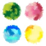 Watercolor stains stock photography