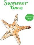 Watercolor starfish Stock Photo