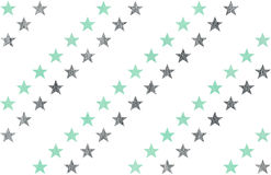 Watercolor stars pattern. Royalty Free Stock Images