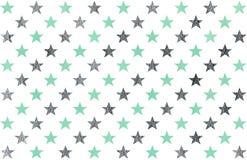 Watercolor stars pattern. Stock Photo