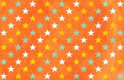 Watercolor stars pattern. Stock Photos