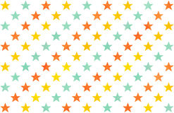Watercolor stars pattern. Stock Images