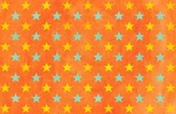 Watercolor stars pattern. Stock Image
