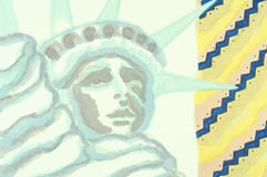 A watercolor of the Statue of Liberty Royalty Free Stock Photo