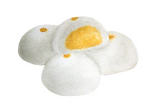 Watercolor of Steamed Creamy Custard Bun, hand drawn delicious food illustration royalty free illustration