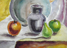 Watercolor still life Royalty Free Stock Photo