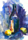 Watercolor still life Stock Photos