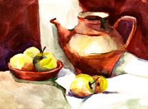 Watercolor still life royalty free illustration