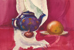 Watercolor still life Stock Image
