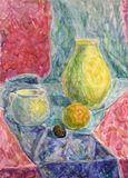 Watercolor still life Royalty Free Stock Photography