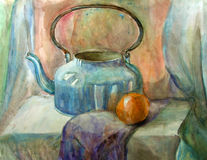 Watercolor still-life painting Royalty Free Stock Image