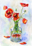 Watercolor still life stock illustration