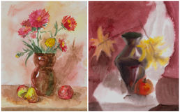 Watercolor still life Stock Images