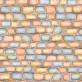 Watercolor stone wall seamless pattern Stock Images