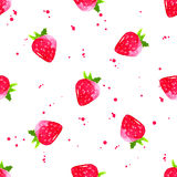 Watercolor strawberry background. seamless vector Stock Image